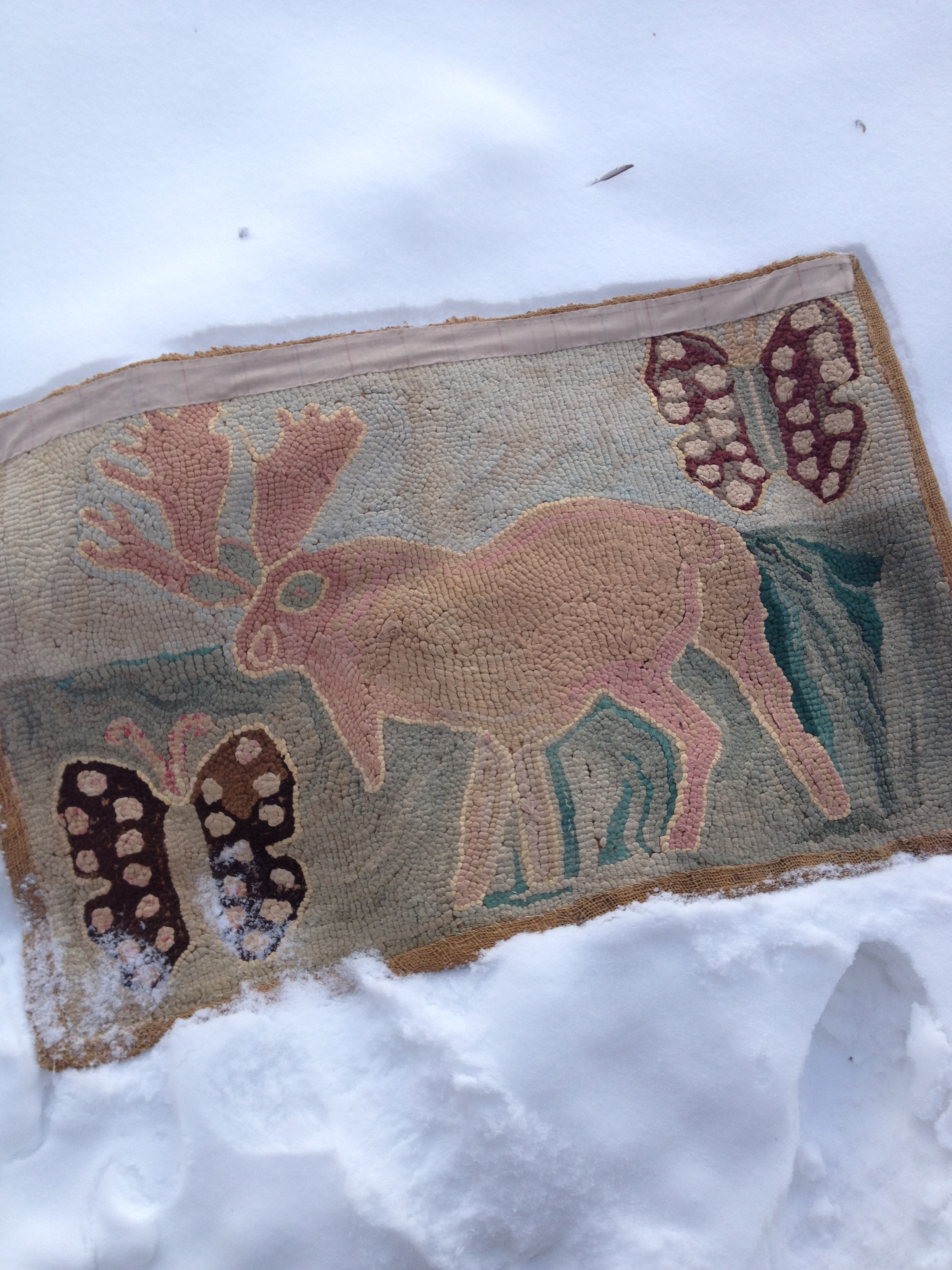 Antique Moose Rug