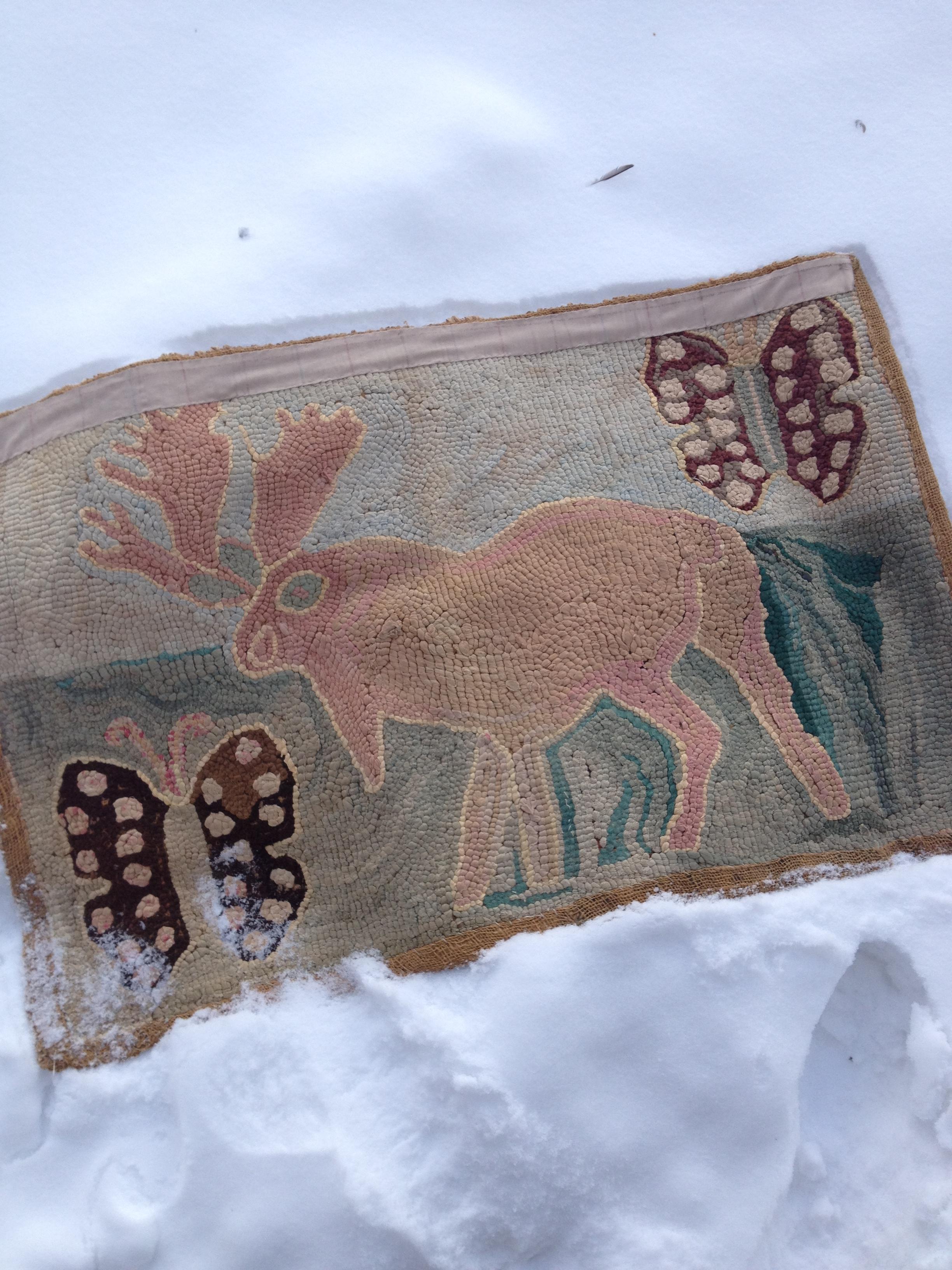 Antique Moose Rug